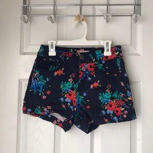Navy flowered shorts